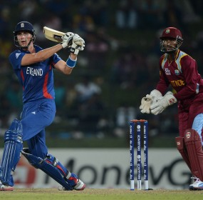 Alex Hales tried to get England's chase moving, England v West Indies