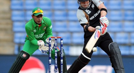 Brendon McCullum hits out during his blistering innings