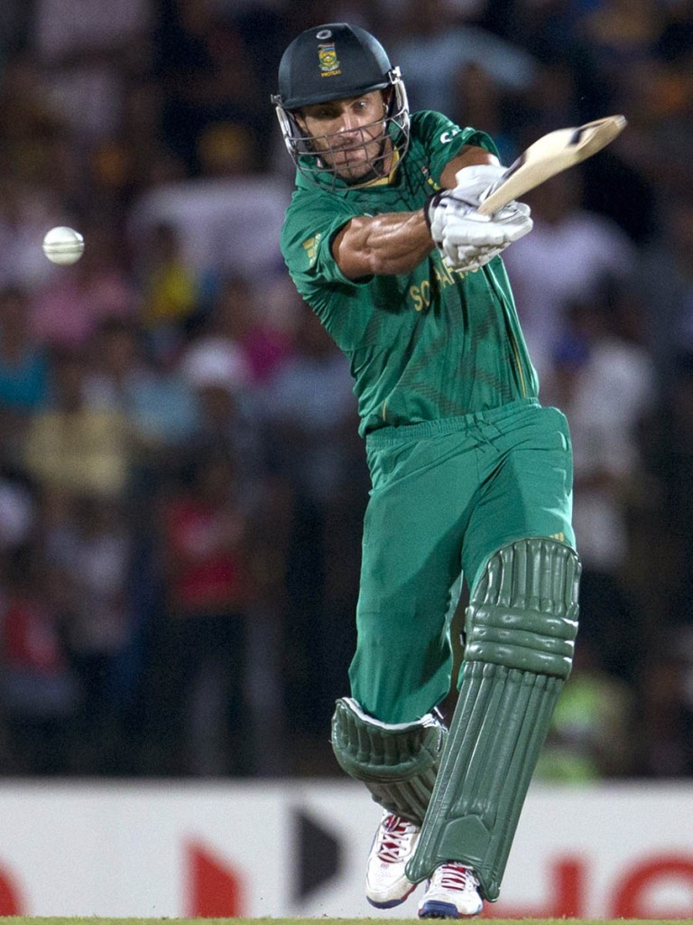 South Africa's Faf du Plessis bats during the ICC Twenty20 Cricket World Cup