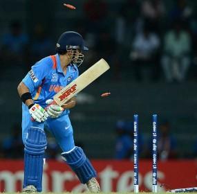 Gautam Gambhir was bowled off an inside edge, Afghanistan v India