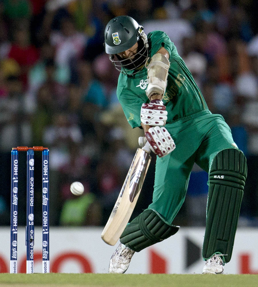 South Africa's Hashim Amla bats during an ICC Twenty20 Cricket World Cup