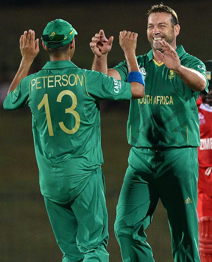 Jacques Kallis finished with four wickets, South Africa v Zimbabwe