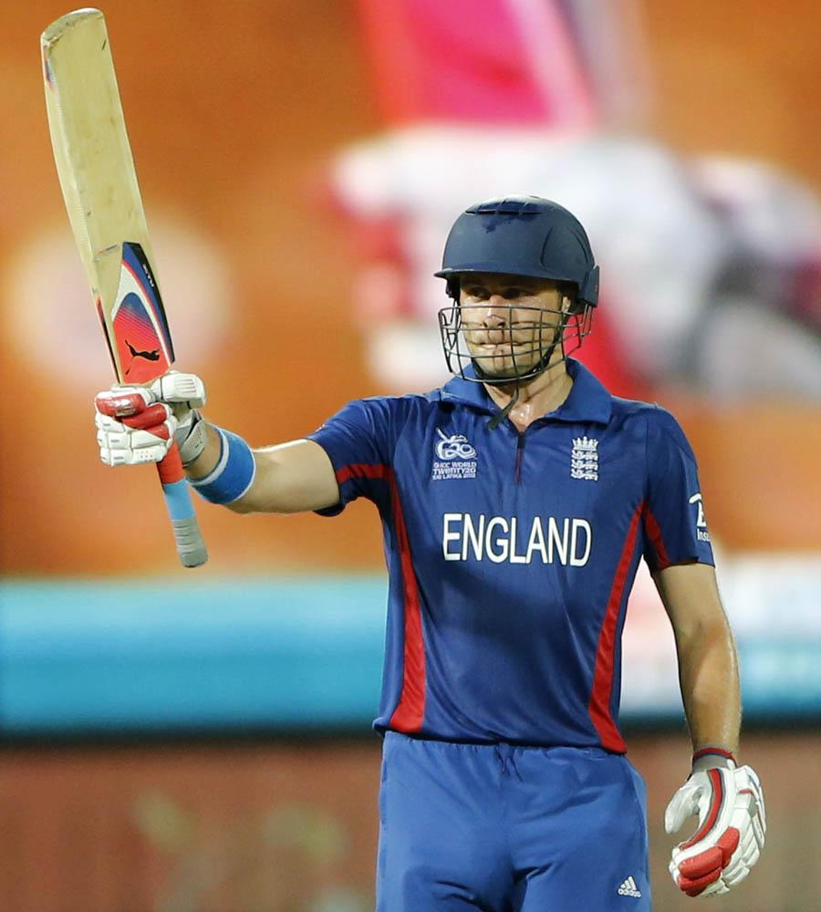 Luke Wright England batsman Luke Wright celebrates scoring a half century
