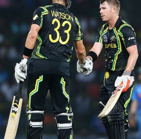 Shane Watson and David Warner almost completed a 10-wicket win