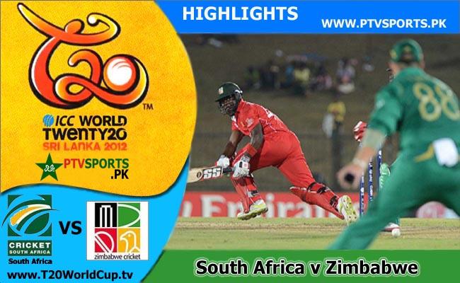 South Africa v Zimbabwe Highlights