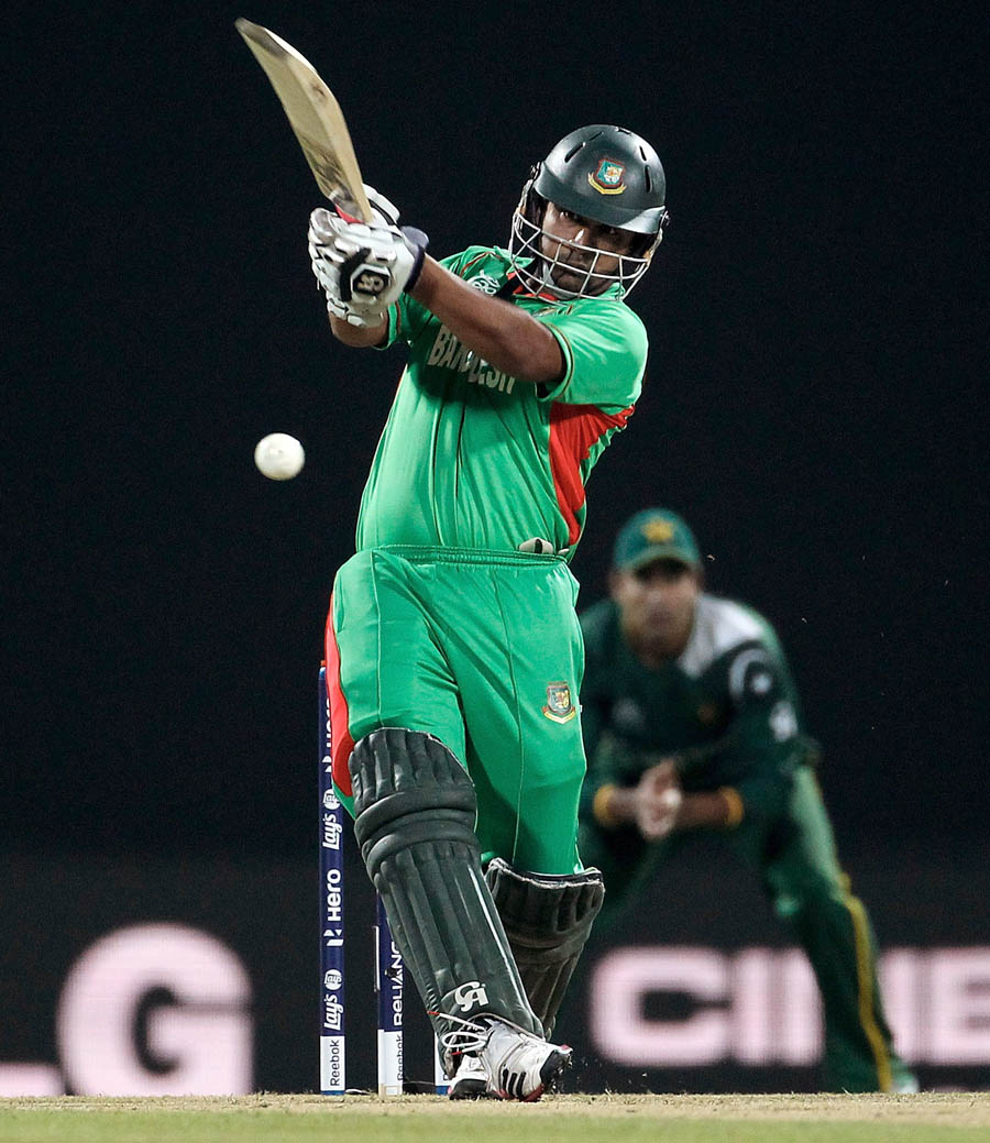 Tamim Iqbal of Bangladesh bats during the Group D match T20 world cup 2012