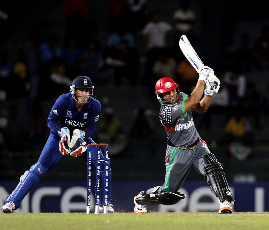 There was at least something for Afghanistan to cheer with Gulbodin Naib's late hitting, Afghanistan v England
