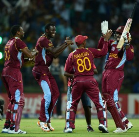 Chris Gayle leads the celebratory dancing