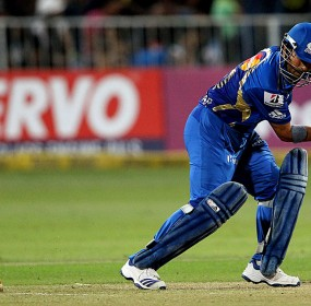 Sachin Tendulkar loses his off stump to Moises Henriques
