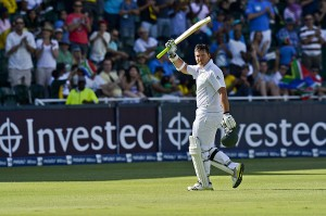 Graeme Smith scored a half-century in his 100th Test as captain, South Africa v Pakistan, 1st Test, Johannesburg, 2nd day