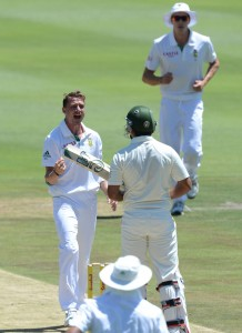Nasir Jamshed was Dale Steyn's second wicket, South Africa v Pakistan, 1st Test, Johannesburg, 2nd day