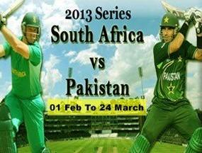 Pakistan vs South Africa 2013 Series Live