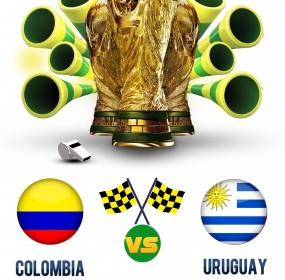 Columbia vs Uruguay FIFA World Cup Live match