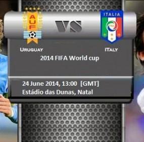Italy vs Uruguay Football Match