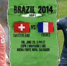 Switzerland VS France Football World Cup Match
