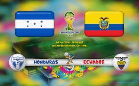 Honduras VS Ecuador Football Match
