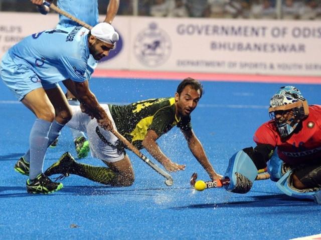 PAK V IND India Semi Final Hockey Champions Trophy 2014 Photos