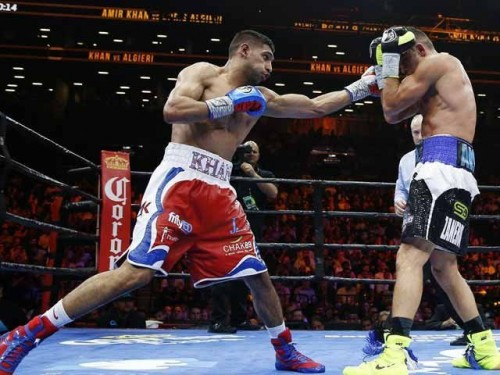 Amir Khan vs. Chris Algieri pictures