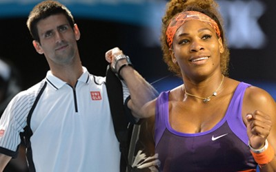 Serena Williams and Novak Djokovic