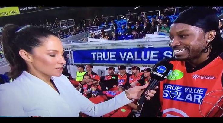 cricket interview flirt