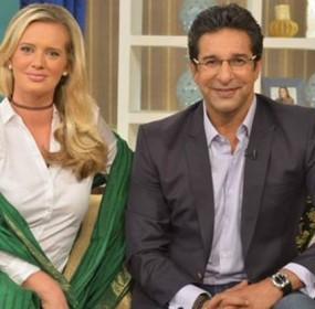 Wasim Akram with Wife Shaniera