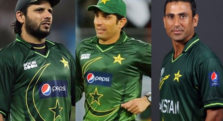 Misbah, Younis and Afridi