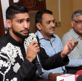 Boxer Amir Khan Attends Press Conference In Lahore