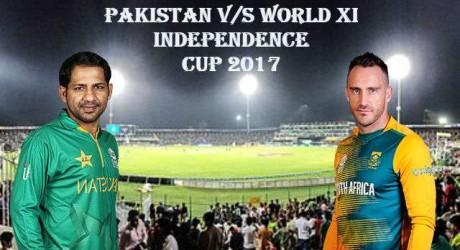 World XI and Pak Live Matches