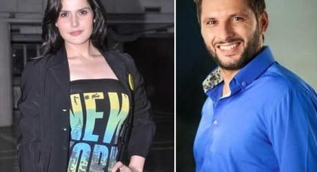 Shahid Afridi and Zarin
