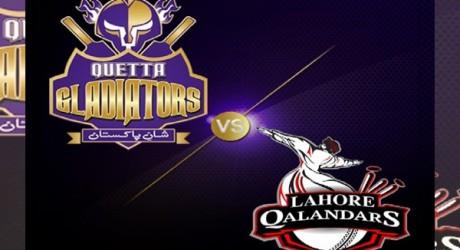 Quetta Gladiator vs Lahore Qalandars