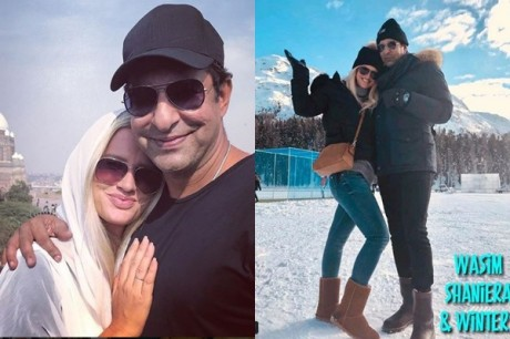 Wasim Akram and Wife Spending Quality Time in Switzerland 1