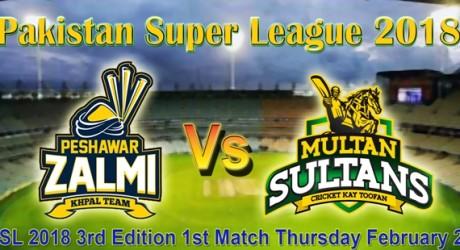 peshawar Zalmi vs Multan Sultan