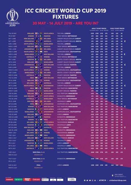 icc schedule