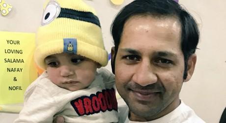 Sarfraz With Son