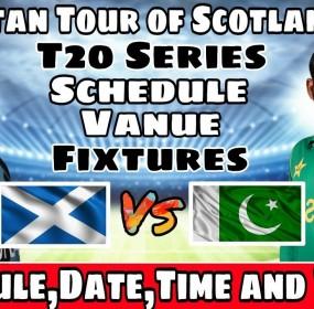 Pakistan vs Scotland T20 Match