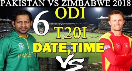 Pakistan vs Zimbabwe 2nd ODI 2018