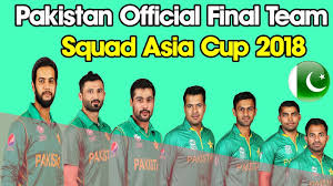 Team Pakistan Squad