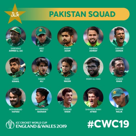 World Cup 2019 Pak Squad