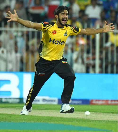 Psl 5 Peshawar Zalmi's Fast Bowler Hassan Ali in Action