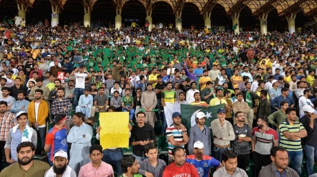 Crowd during Psl 2020